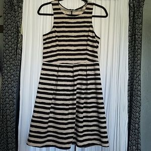 THML Fit & Flare Striped Dress